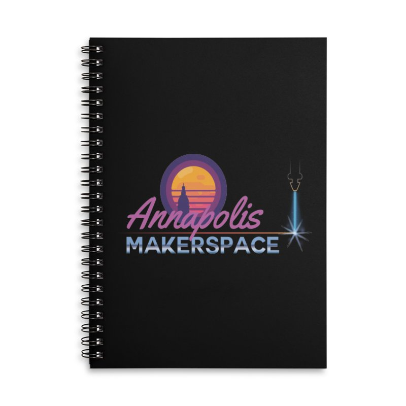 Retro Laser Accessories Lined Spiral Notebook by Annapolis Makerspace's Shop