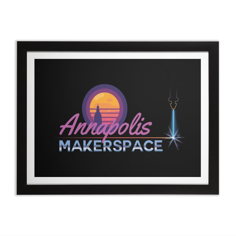Retro Laser Home Framed Fine Art Print by Annapolis Makerspace's Shop