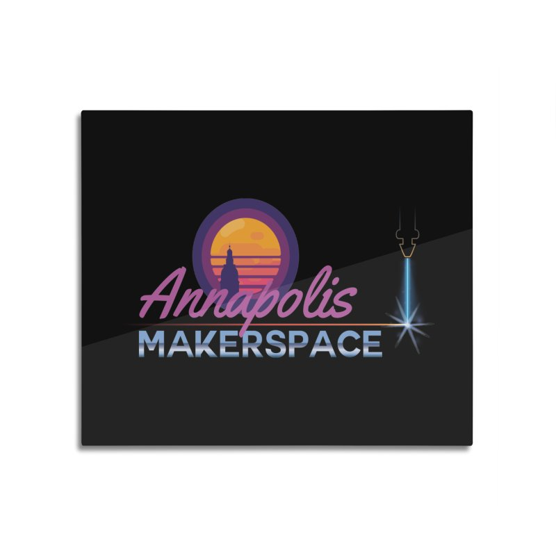 Retro Laser Home Mounted Acrylic Print by Annapolis Makerspace's Shop