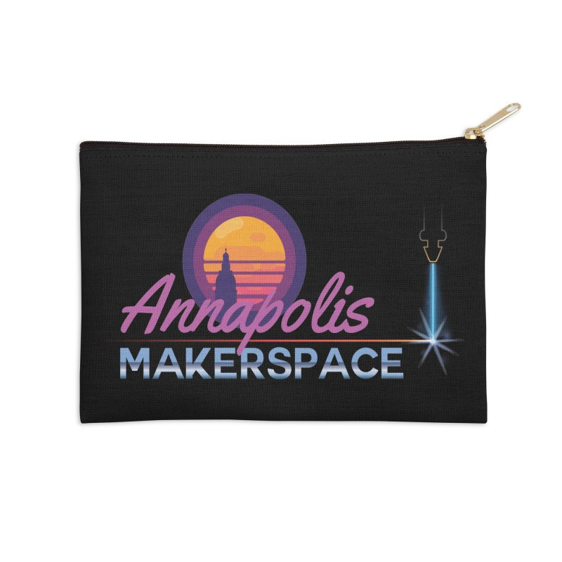 Retro Laser Accessories Zip Pouch by Annapolis Makerspace's Shop