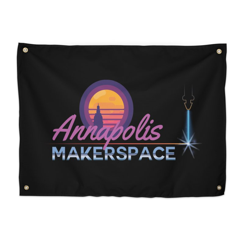 Retro Laser Home Tapestry by Annapolis Makerspace's Shop