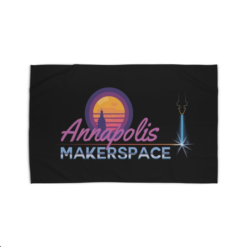 Retro Laser Home Rug by Annapolis Makerspace's Shop