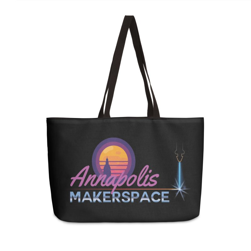 Retro Laser Accessories Weekender Bag Bag by Annapolis Makerspace's Shop