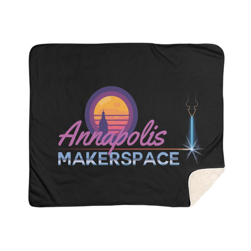 Retro Laser Home Sherpa Blanket Blanket by Annapolis Makerspace's Shop