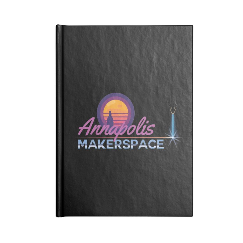 Retro Laser Accessories Lined Journal Notebook by Annapolis Makerspace's Shop