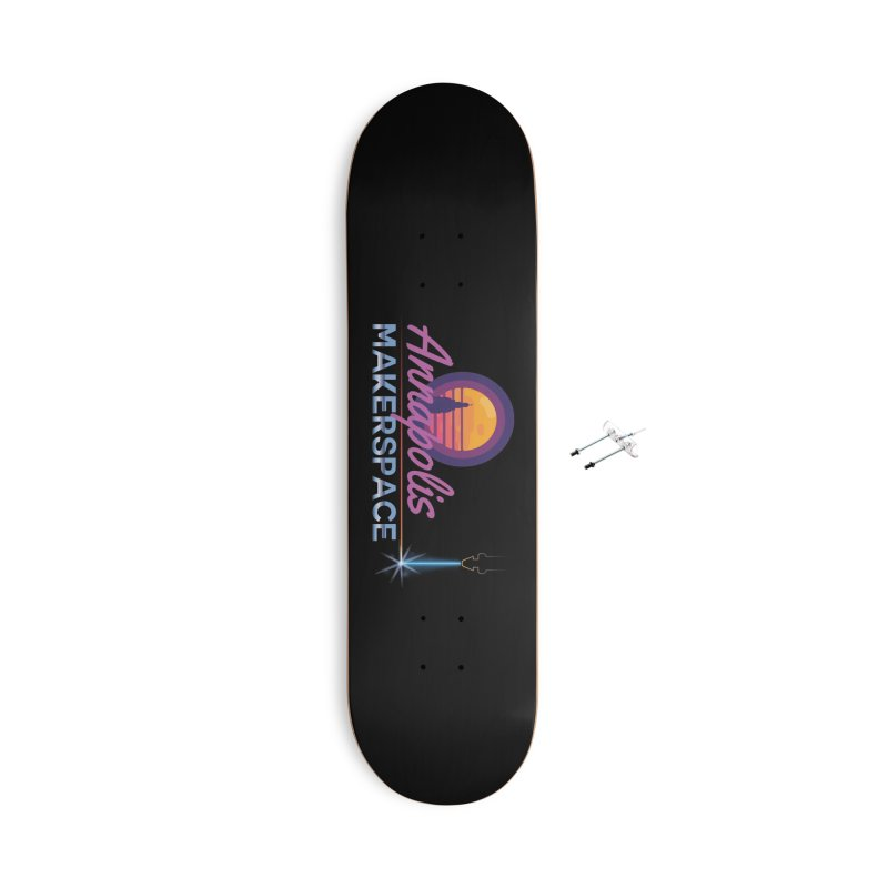 Retro Laser Accessories Skateboard by Annapolis Makerspace's Shop