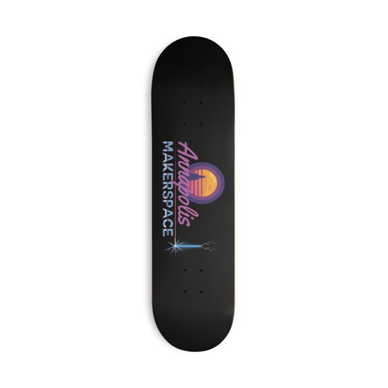 Retro Laser Accessories Deck Only Skateboard by Annapolis Makerspace's Shop