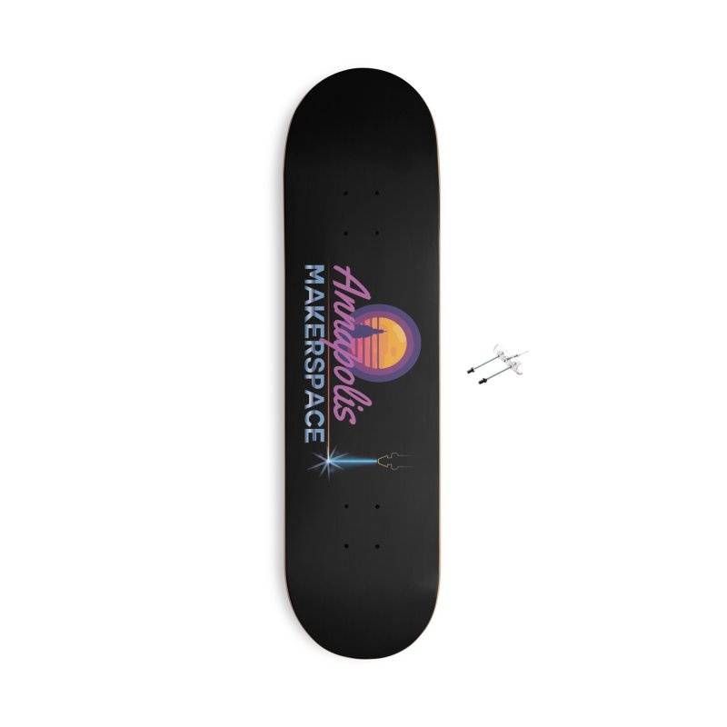 Retro Laser Accessories With Hanging Hardware Skateboard by Annapolis Makerspace's Shop