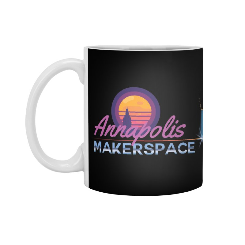 Retro Laser Accessories Mug by Annapolis Makerspace's Shop