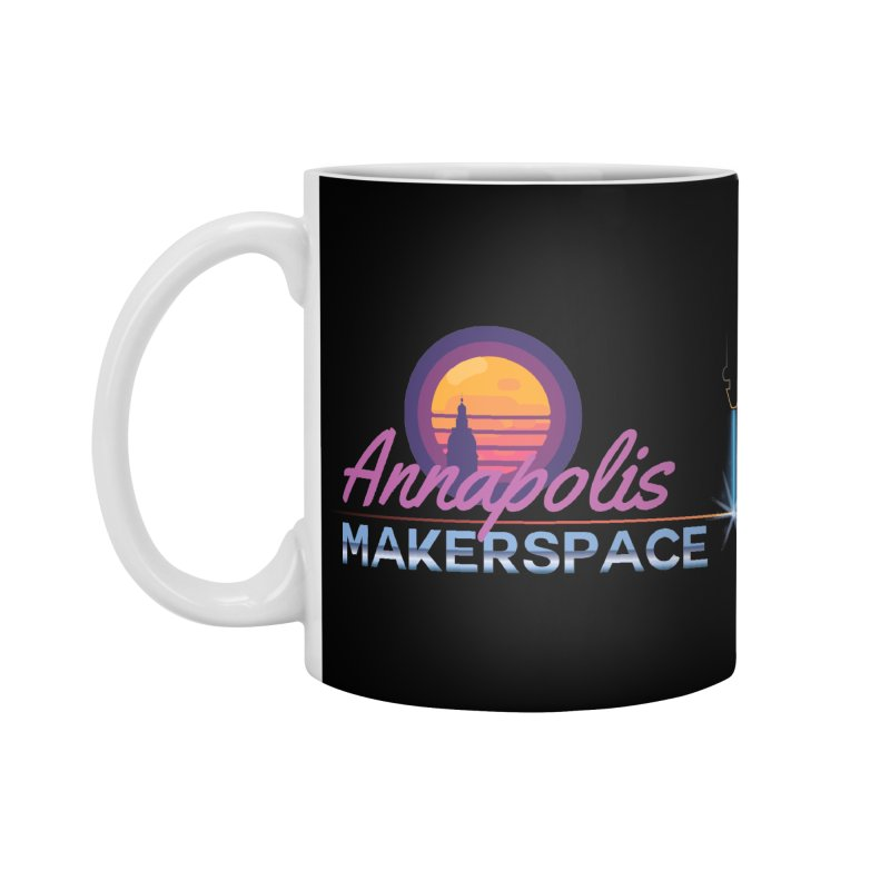 Retro Laser Accessories Standard Mug by Annapolis Makerspace's Shop