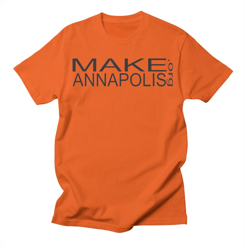 MakeAnnapolis.org (simple) Men's T-Shirt by Annapolis Makerspace's Shop