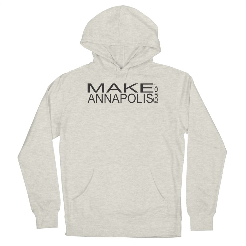 MakeAnnapolis.org (simple) Men's French Terry Pullover Hoody by Annapolis Makerspace's Shop