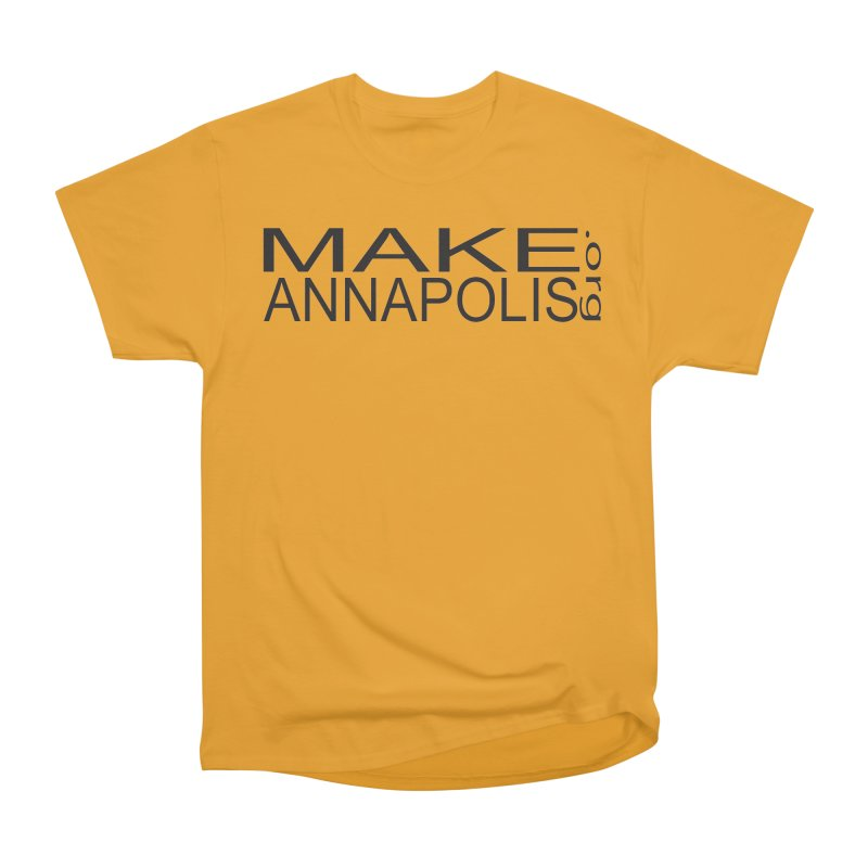 MakeAnnapolis.org (simple) Men's Heavyweight T-Shirt by Annapolis Makerspace's Shop
