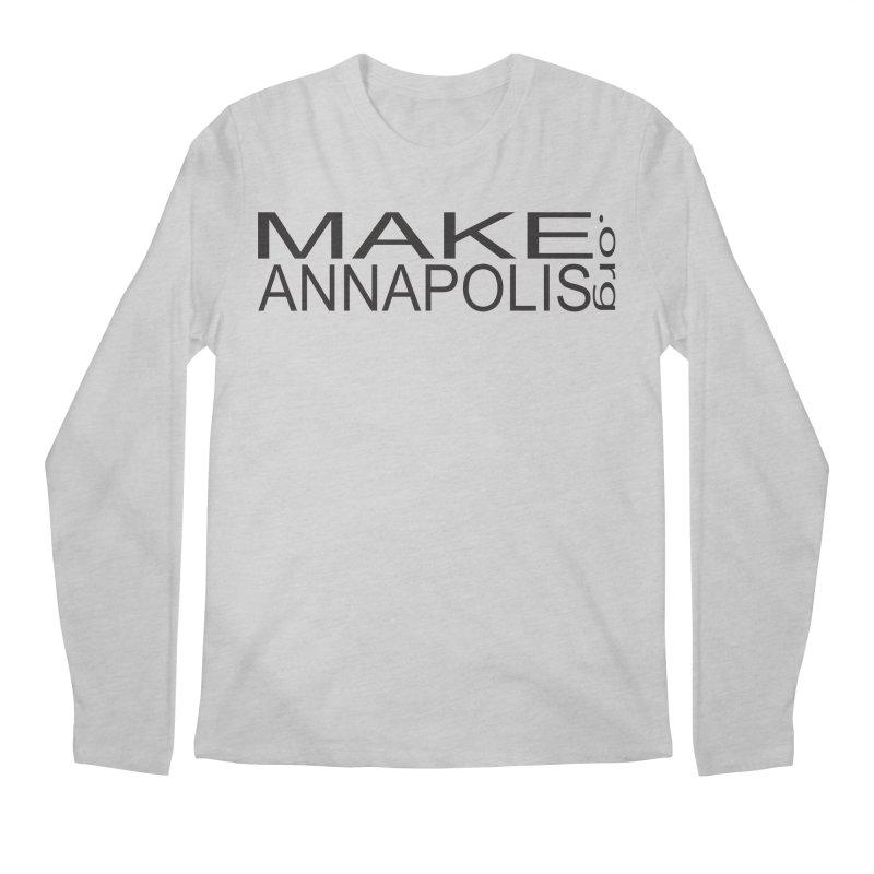 MakeAnnapolis.org (simple) Men's Longsleeve T-Shirt by Annapolis Makerspace's Shop