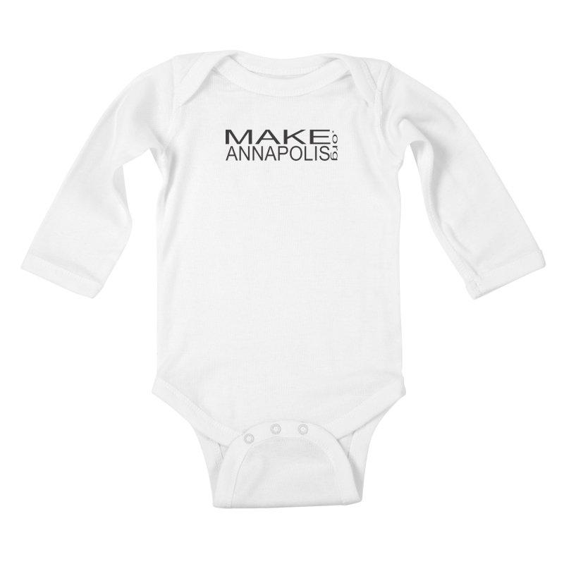 MakeAnnapolis.org (simple) Kids Baby Longsleeve Bodysuit by Annapolis Makerspace's Shop