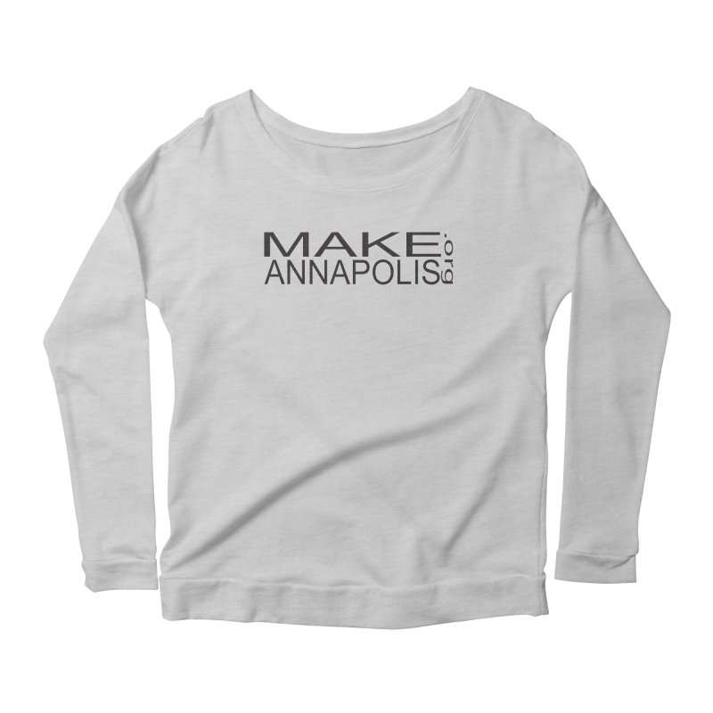 MakeAnnapolis.org (simple) Women's Scoop Neck Longsleeve T-Shirt by Annapolis Makerspace's Shop