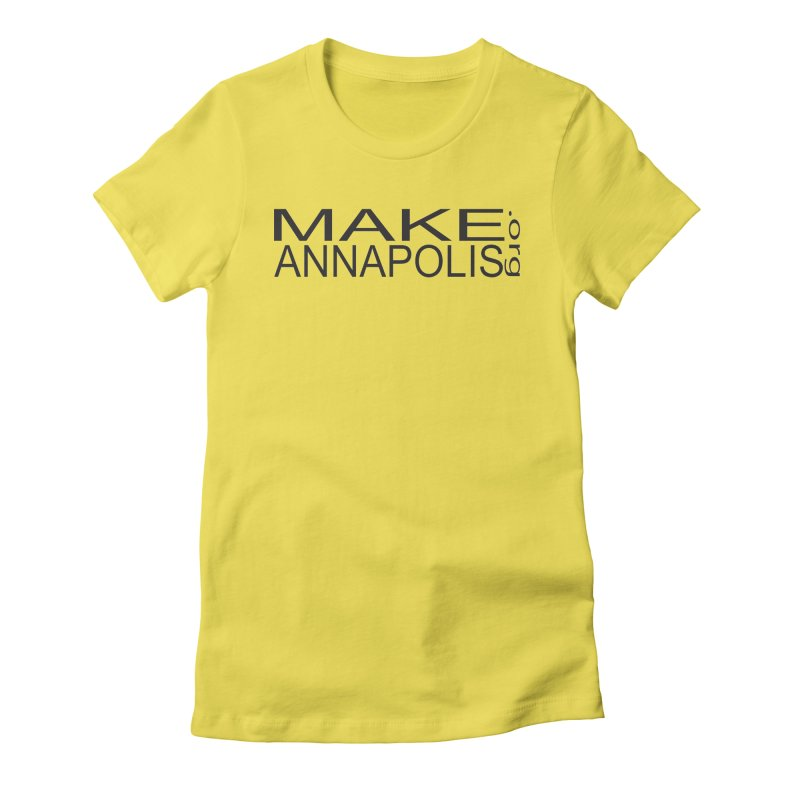 MakeAnnapolis.org (simple) Women's T-Shirt by Annapolis Makerspace's Shop
