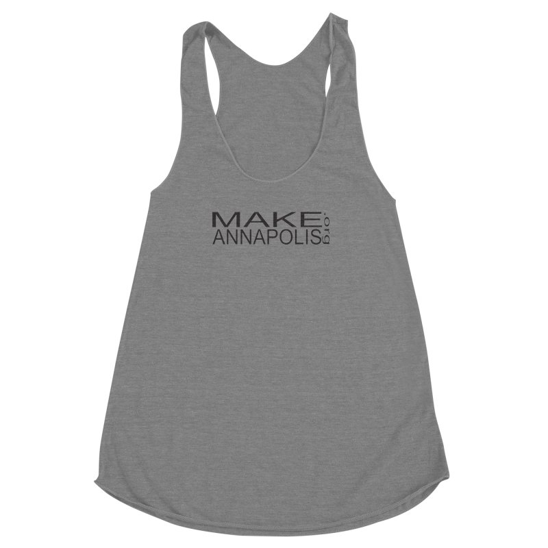 MakeAnnapolis.org (simple) Women's Racerback Triblend Tank by Annapolis Makerspace's Shop