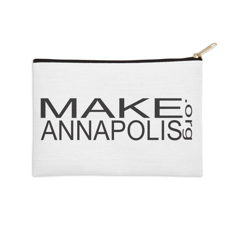 MakeAnnapolis.org (simple) Accessories Zip Pouch by Annapolis Makerspace's Shop