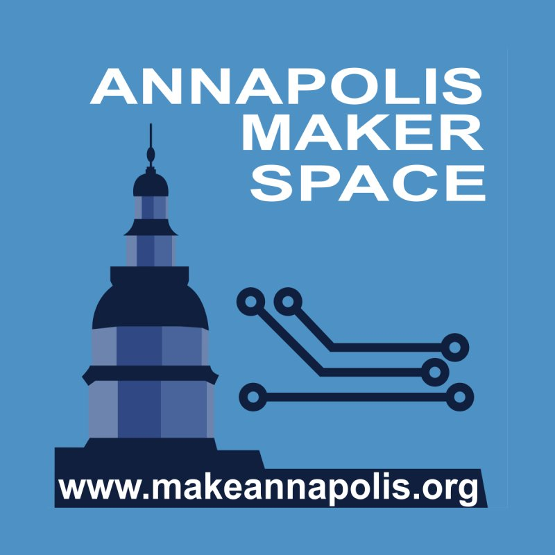 Logo (Background) Accessories Bag by Annapolis Makerspace's Shop