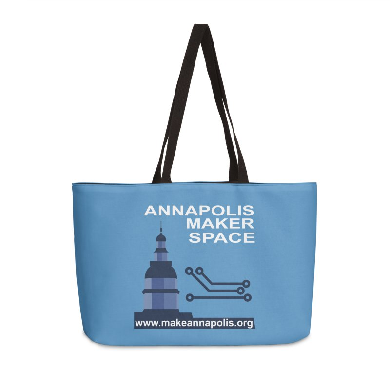 Logo (Background) Accessories Weekender Bag Bag by Annapolis Makerspace's Shop