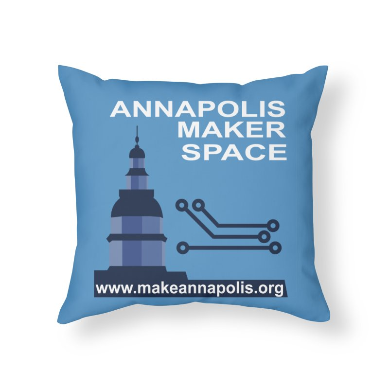 Logo (Background) Home Throw Pillow by Annapolis Makerspace's Shop
