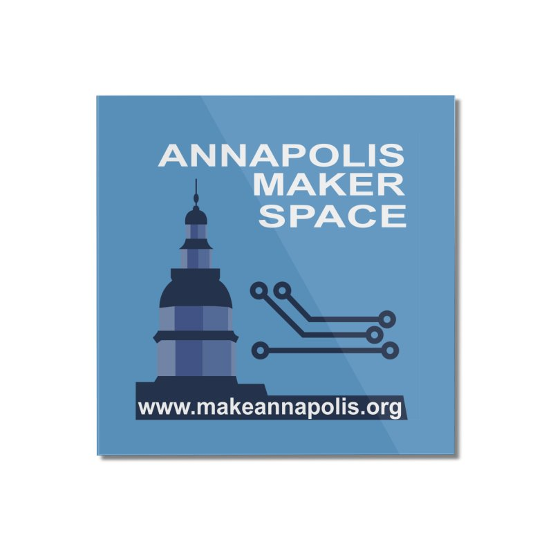 Logo (Background) Home Mounted Acrylic Print by Annapolis Makerspace's Shop