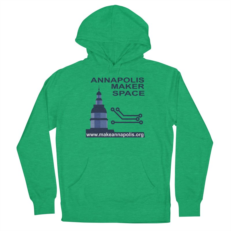 Logo - Full Men's French Terry Pullover Hoody by Annapolis Makerspace's Shop