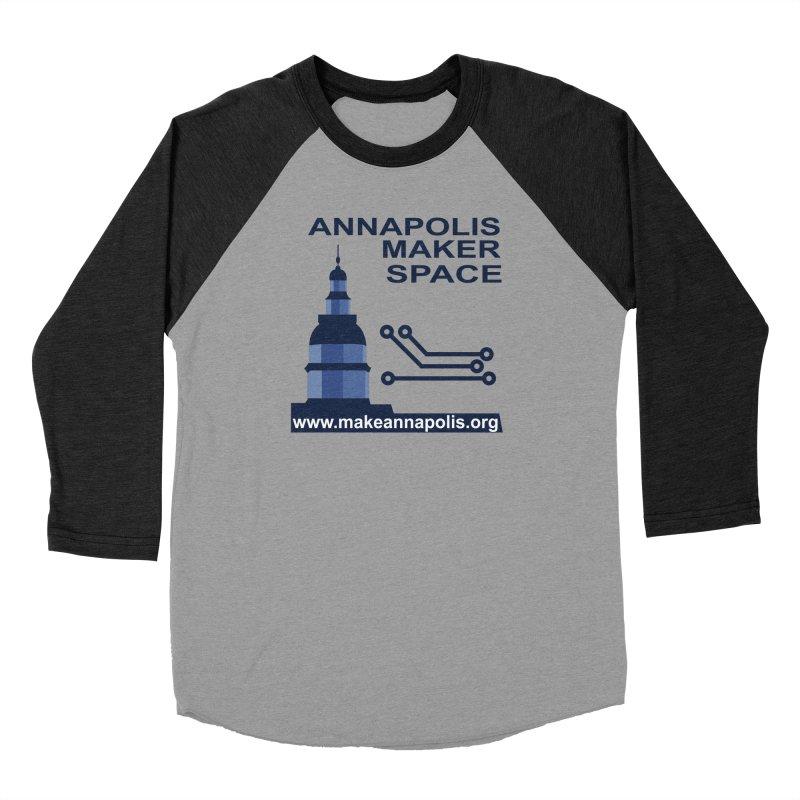 Logo - Full Women's Baseball Triblend Longsleeve T-Shirt by Annapolis Makerspace's Shop