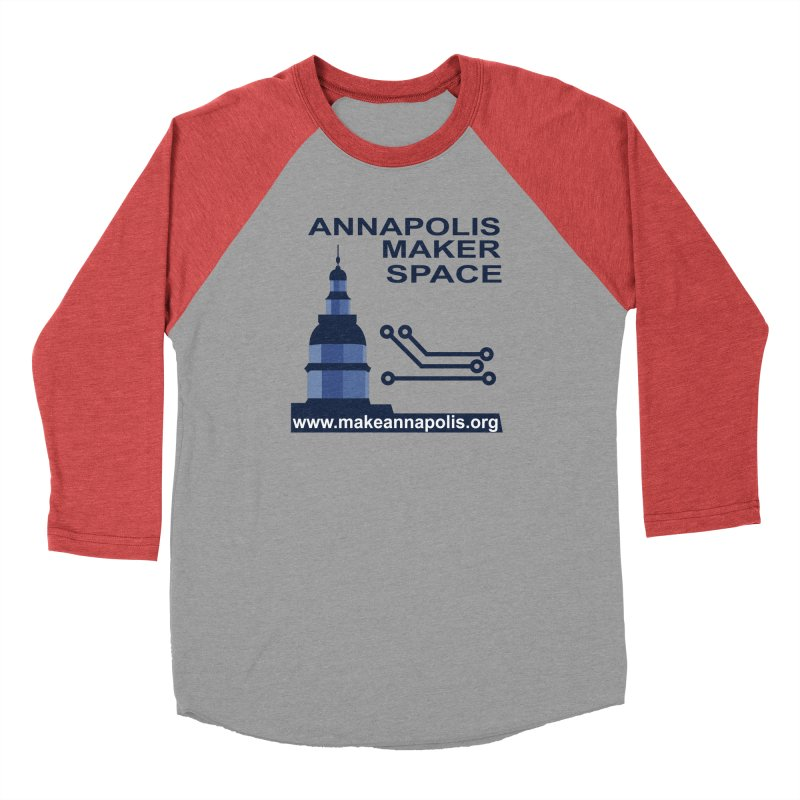 Logo - Full Men's Longsleeve T-Shirt by Annapolis Makerspace's Shop