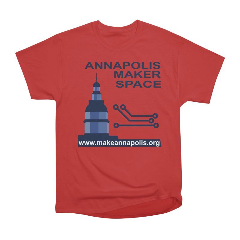 Logo - Full Men's Heavyweight T-Shirt by Annapolis Makerspace's Shop