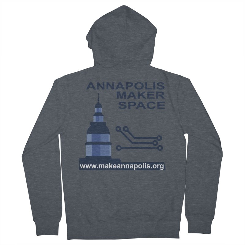 Logo - Full Men's French Terry Zip-Up Hoody by Annapolis Makerspace's Shop