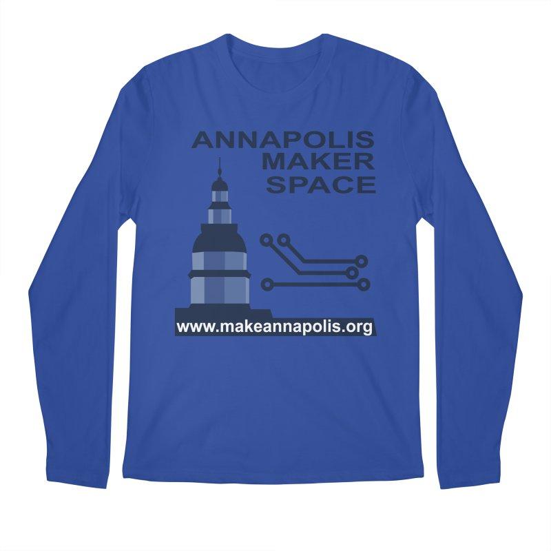 Logo - Full Men's Regular Longsleeve T-Shirt by Annapolis Makerspace's Shop