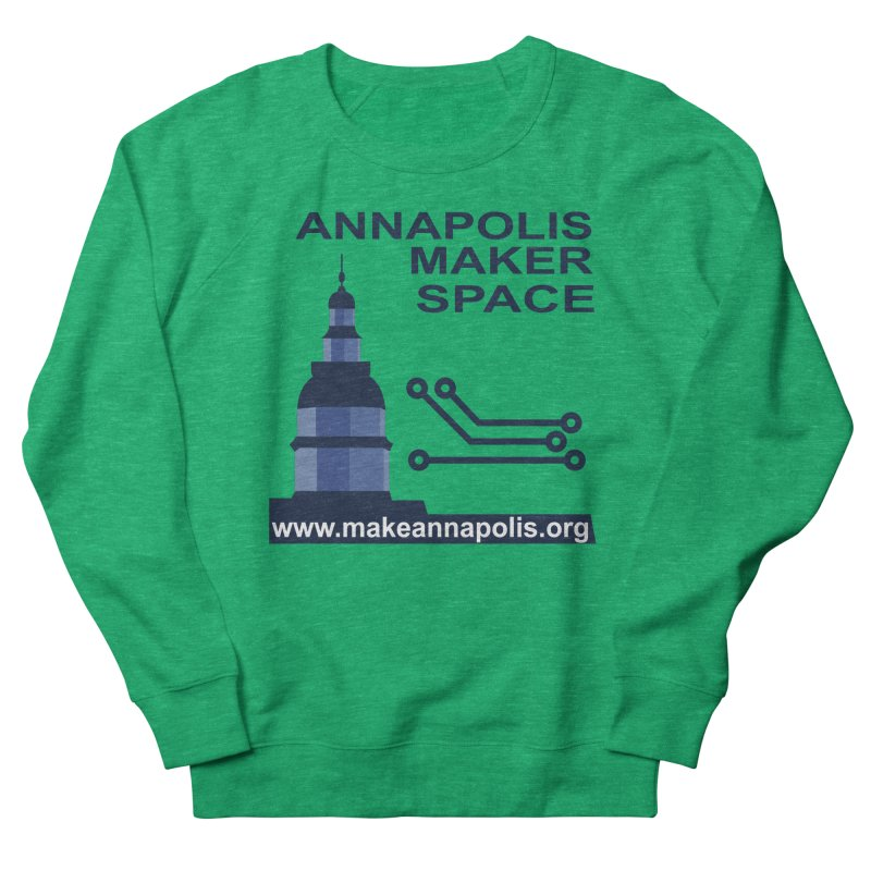 Logo - Full Men's French Terry Sweatshirt by Annapolis Makerspace's Shop