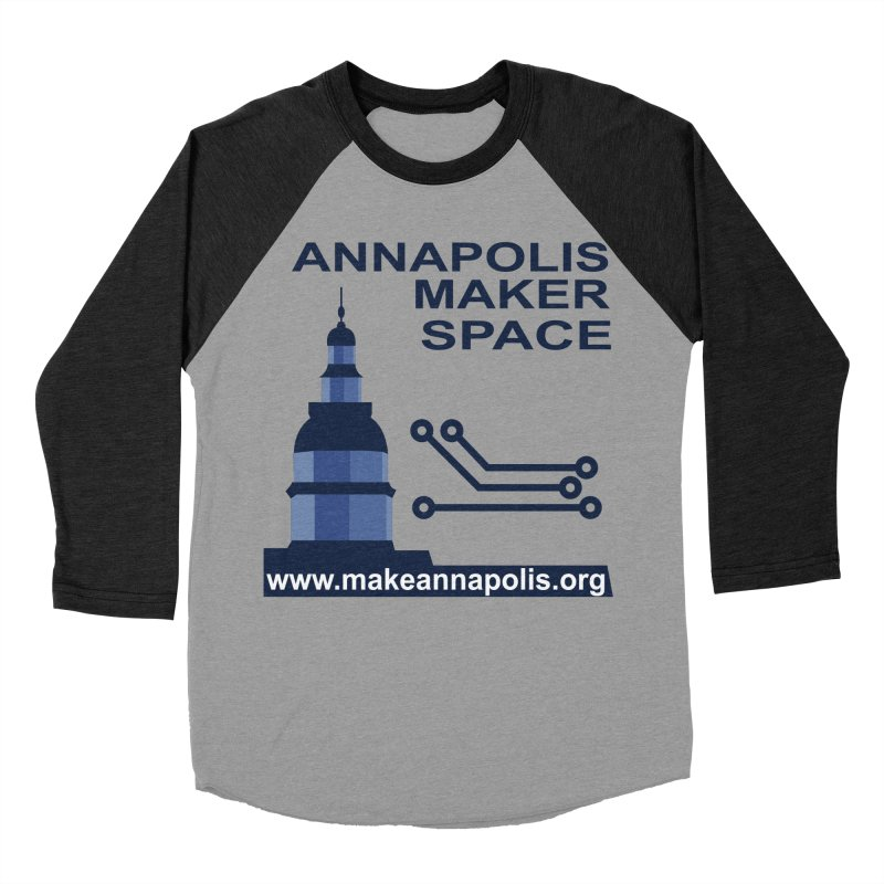 Logo - Full Women's Baseball Triblend Longsleeve T-Shirt by Annapolis Makerspace's Shop