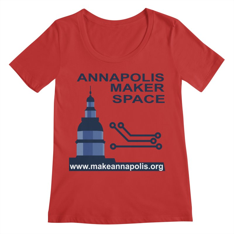 Logo - Full Women's Regular Scoop Neck by Annapolis Makerspace's Shop