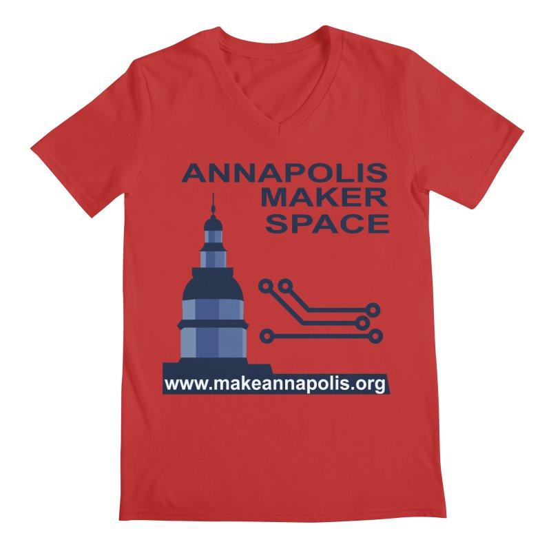 Logo - Full Men's Regular V-Neck by Annapolis Makerspace's Shop