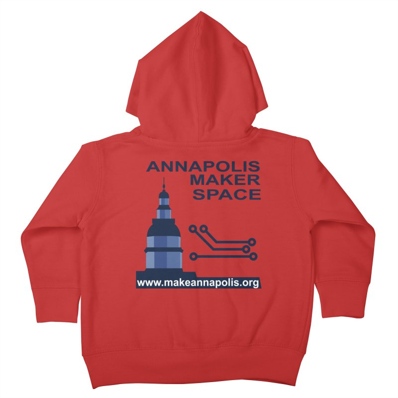 Logo - Full Kids Toddler Zip-Up Hoody by Annapolis Makerspace's Shop