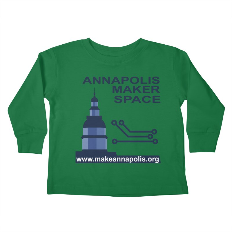Logo - Full Kids Toddler Longsleeve T-Shirt by Annapolis Makerspace's Shop