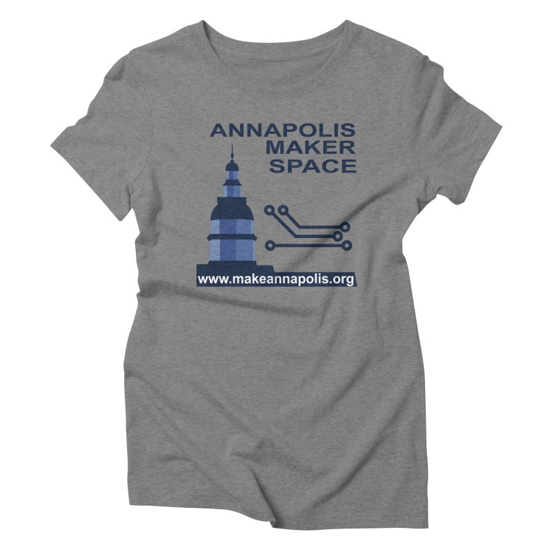 Logo - Full Women's Triblend T-Shirt by Annapolis Makerspace's Shop