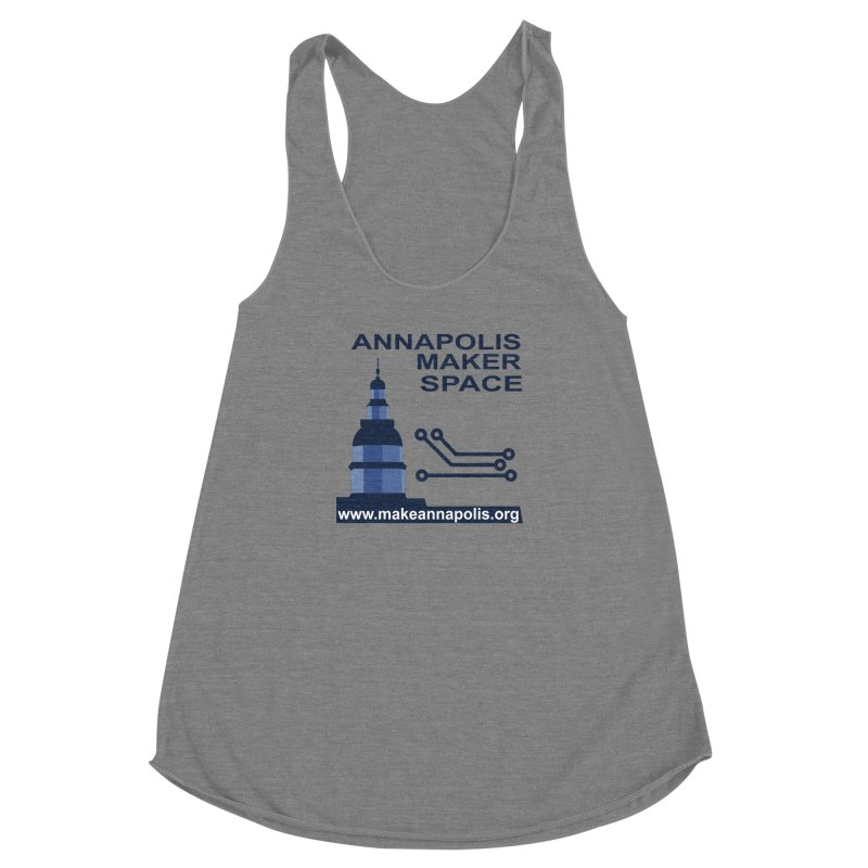 Logo - Full Women's Racerback Triblend Tank by Annapolis Makerspace's Shop