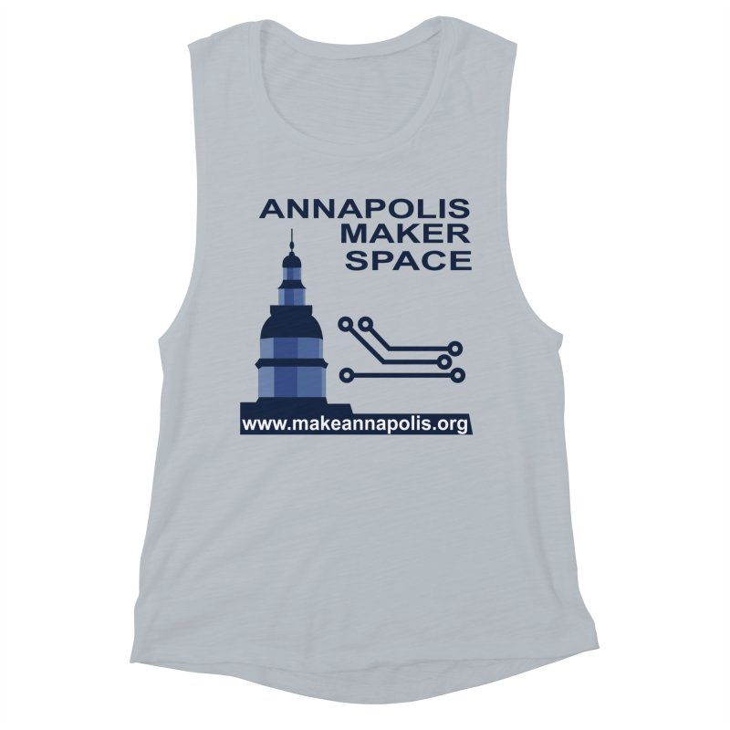 Logo - Full Women's Muscle Tank by Annapolis Makerspace's Shop