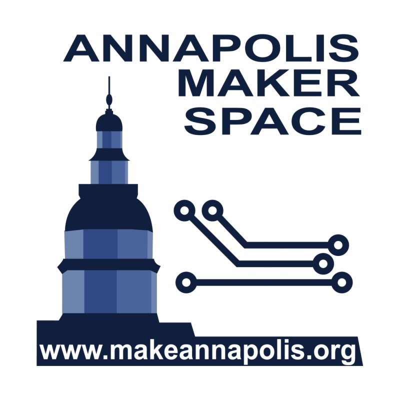 Logo - Small Men's V-Neck by Annapolis Makerspace's Shop