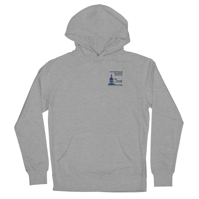 Logo - Small Men's French Terry Pullover Hoody by Annapolis Makerspace's Shop
