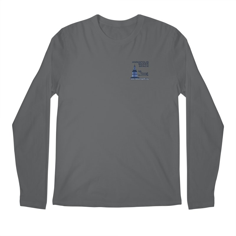Logo - Small Men's Longsleeve T-Shirt by Annapolis Makerspace's Shop