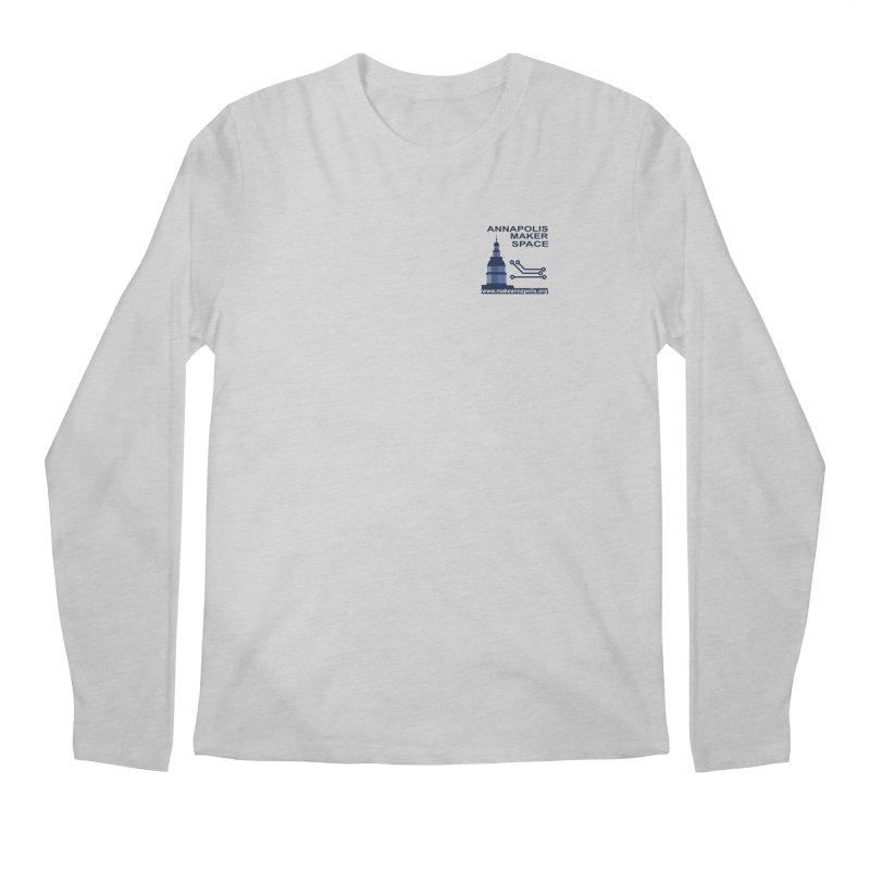 Logo - Small Men's Regular Longsleeve T-Shirt by Annapolis Makerspace's Shop
