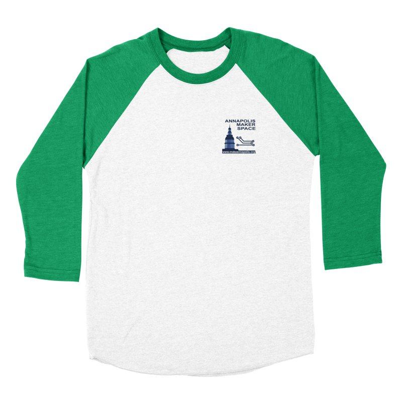 Logo - Small Women's Baseball Triblend Longsleeve T-Shirt by Annapolis Makerspace's Shop