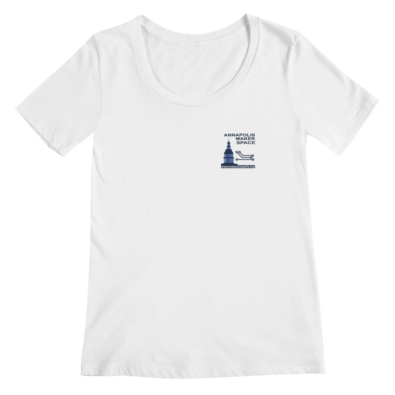 Logo - Small Women's Regular Scoop Neck by Annapolis Makerspace's Shop