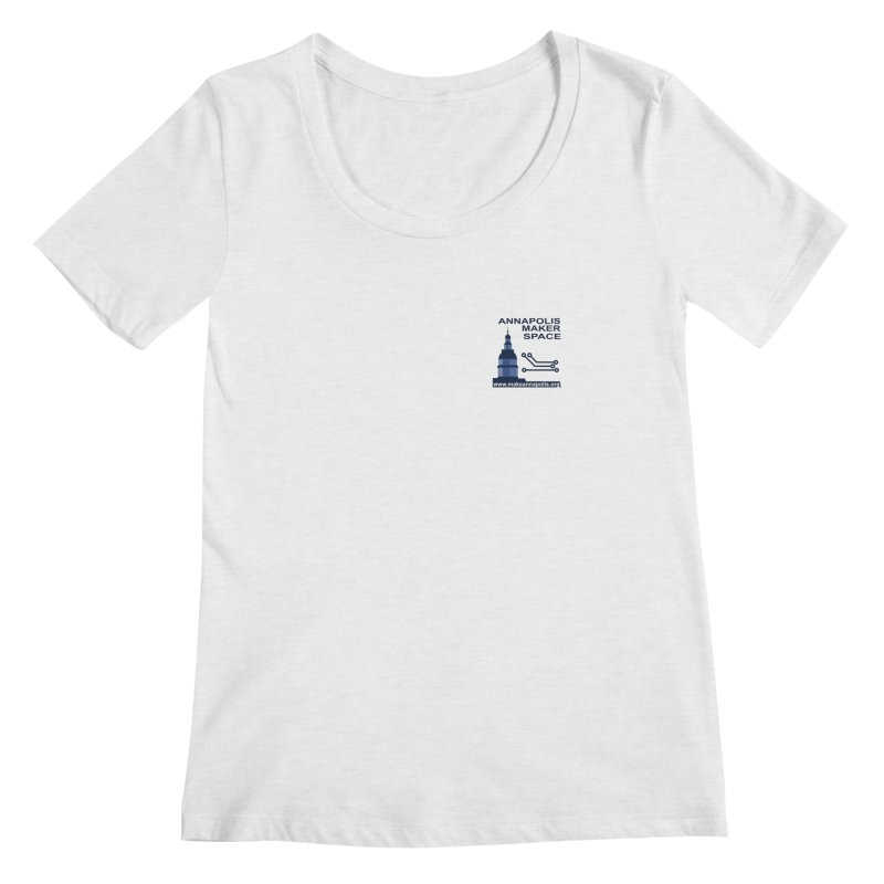 Logo - Small Women's Scoop Neck by Annapolis Makerspace's Shop