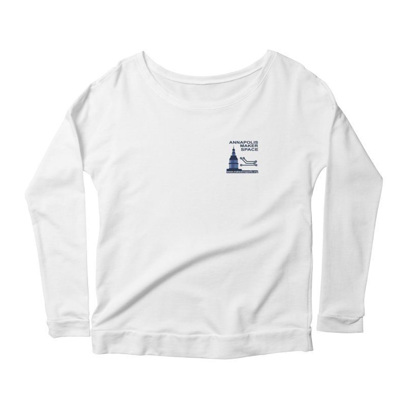 Logo - Small Women's Scoop Neck Longsleeve T-Shirt by Annapolis Makerspace's Shop